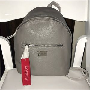 New With Tags! Grey Leather Mini Backpack 🎒